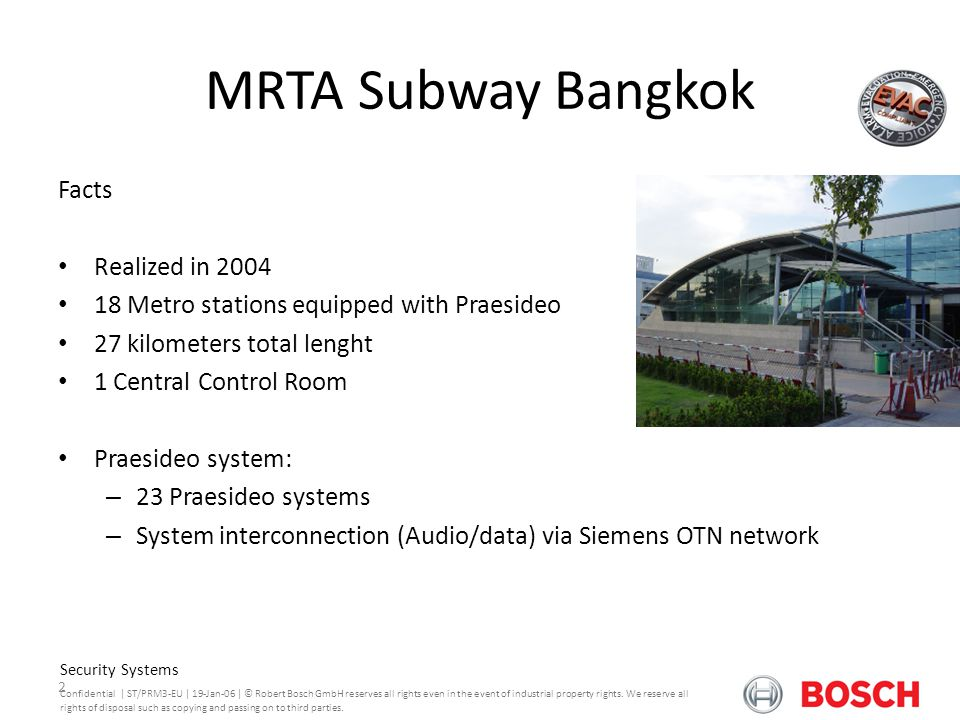 MRTA Subway Bangkok Facts Realized in 2004