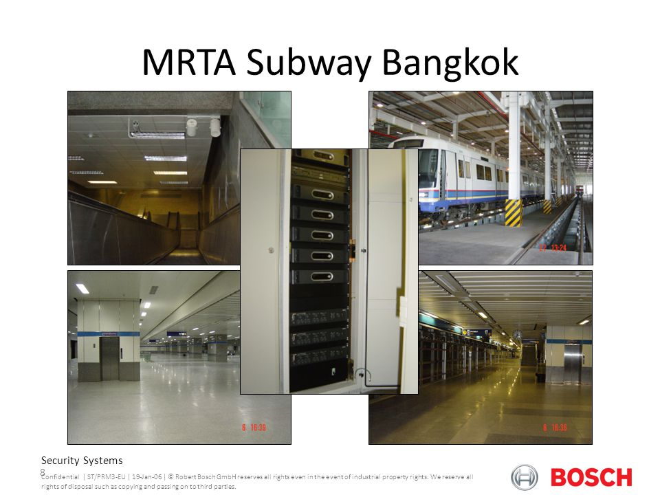 MRTA Subway Bangkok Praesideo Version 3.0 Security Systems