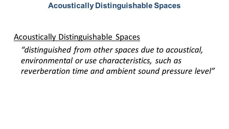 Acoustically Distinguishable Spaces