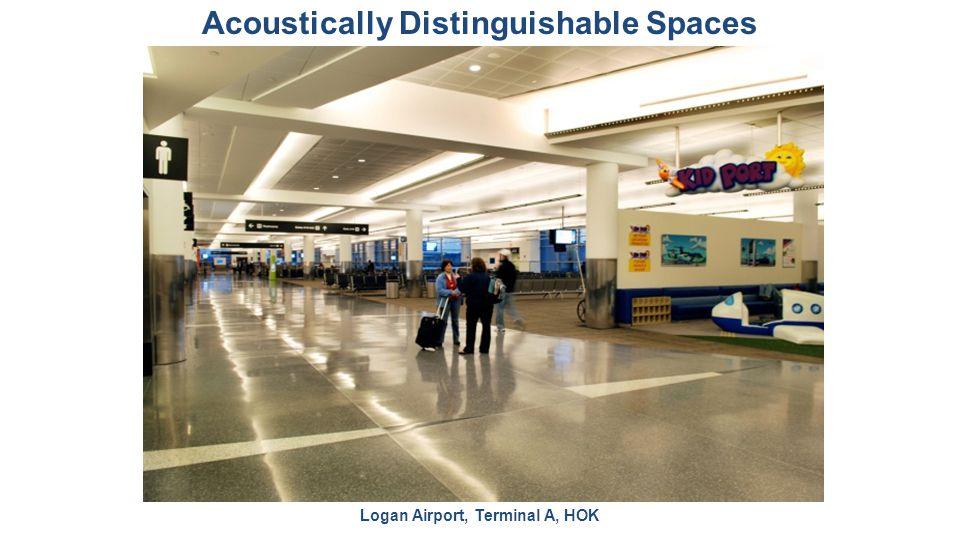 Acoustically Distinguishable Spaces Logan Airport, Terminal A, HOK