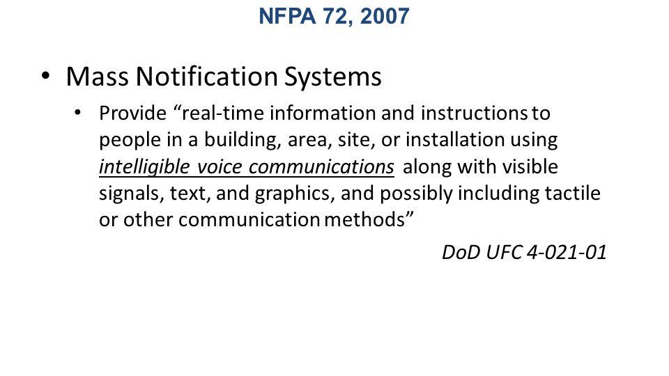 Mass Notification Systems