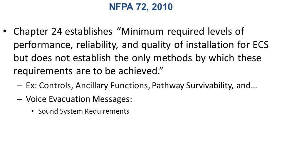 NFPA 72, 2010