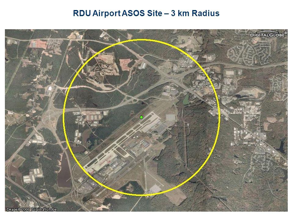 RDU Airport ASOS Site – 3 km Radius