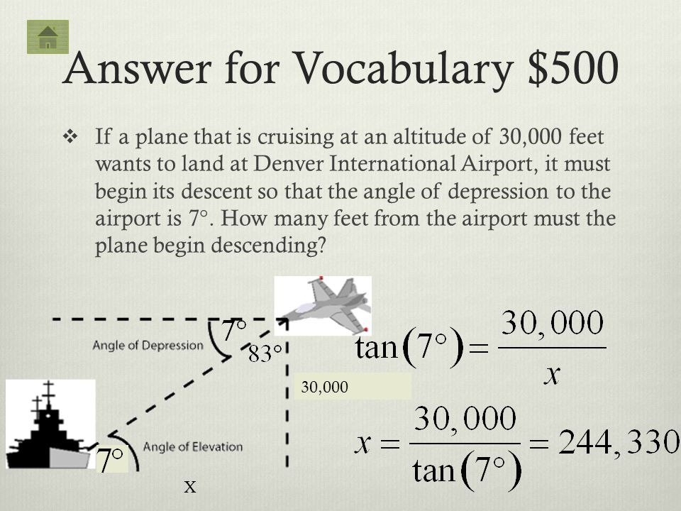 Answer for Vocabulary $500