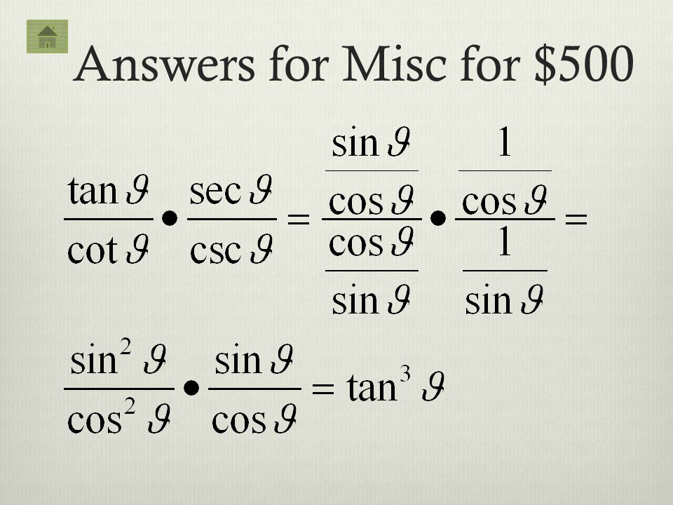Answers for Misc for $500