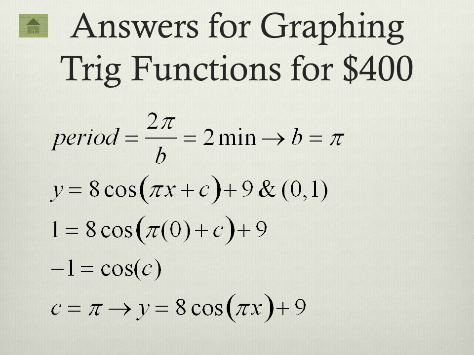 how to solve for x in trig functions