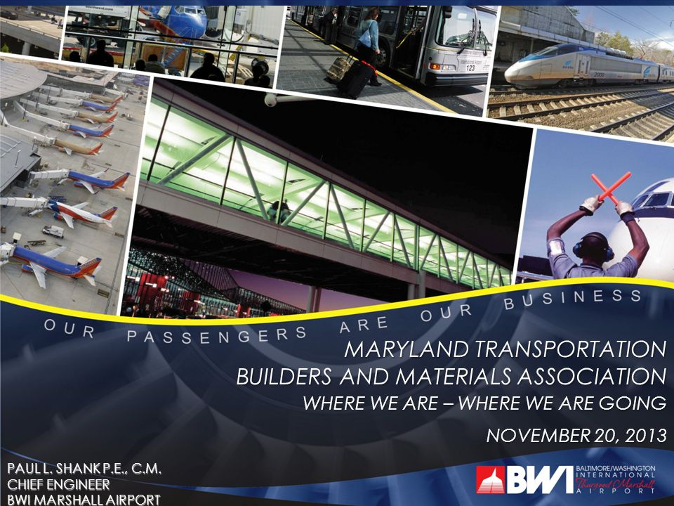 MARYLAND TRANSPORTATION BUILDERS AND MATERIALS ASSOCIATION