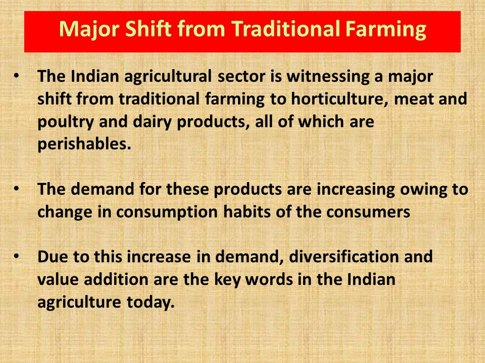 Major Shift from Traditional Farming