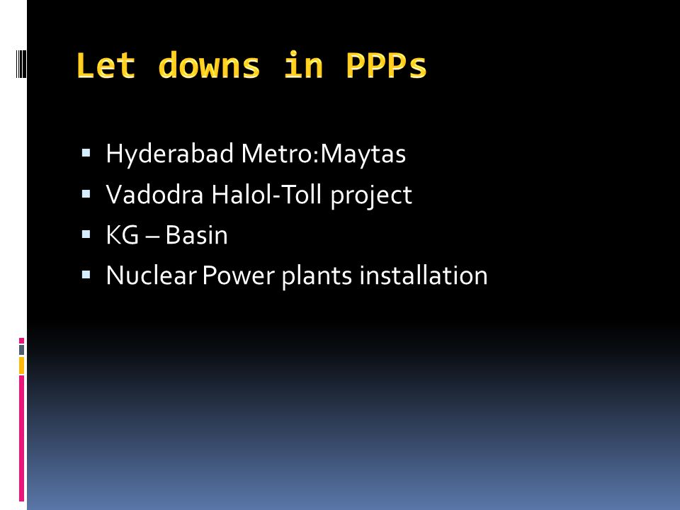 Let downs in PPPs Hyderabad Metro:Maytas Vadodra Halol-Toll project