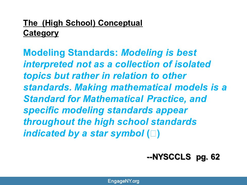 The (High School) Conceptual Category