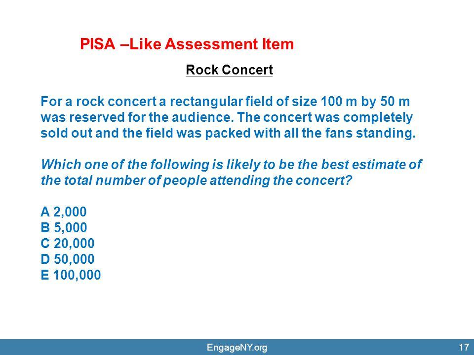 PISA –Like Assessment Item
