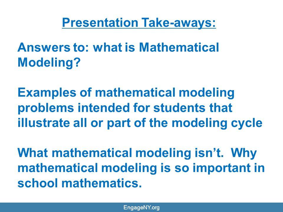 Presentation Take-aways: