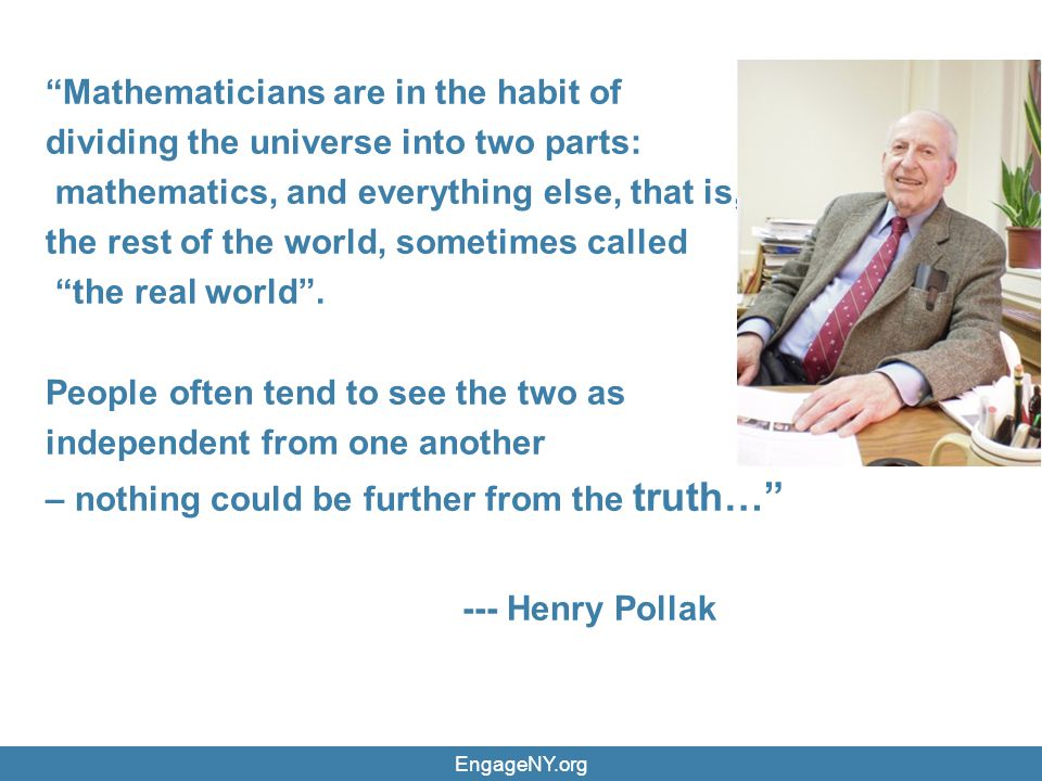 Mathematicians are in the habit of