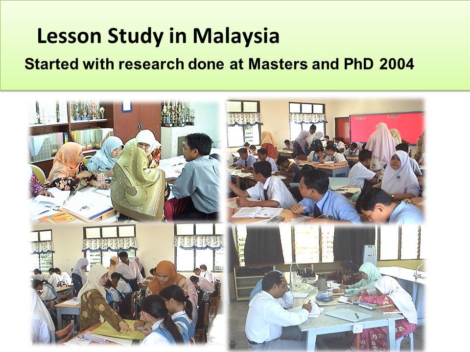 Lesson Study in Malaysia