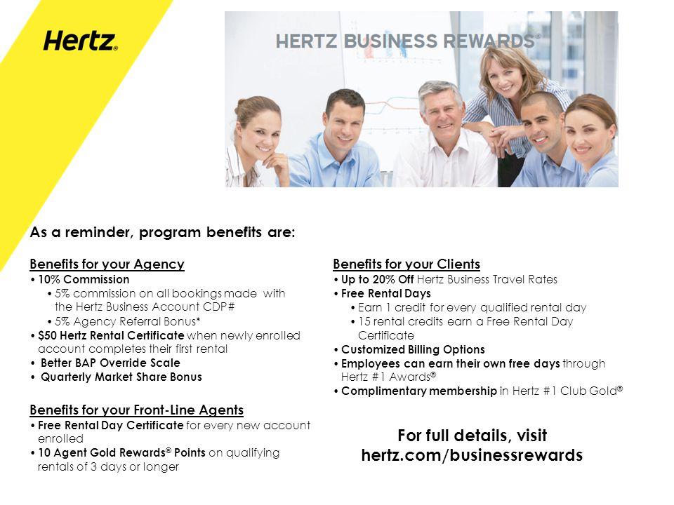 For full details, visit hertz.com/businessrewards