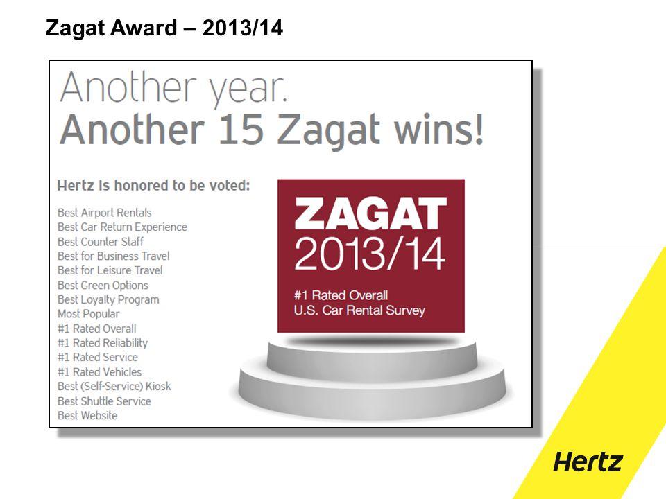 Zagat Award – 2013/14