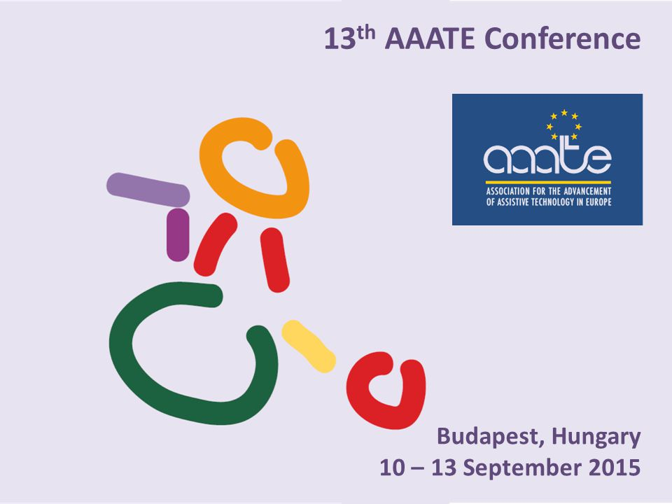 13th AAATE Conference Budapest, Hungary 10 – 13 September 2015
