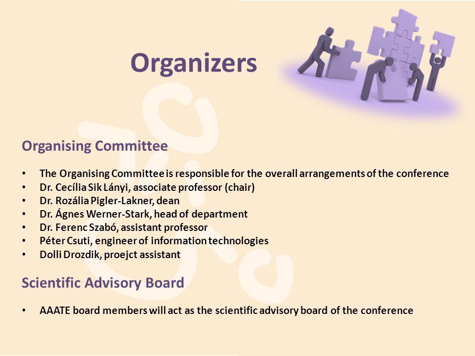 Organizers Organising Committee Scientific Advisory Board
