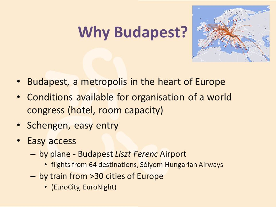 Why Budapest Budapest, a metropolis in the heart of Europe