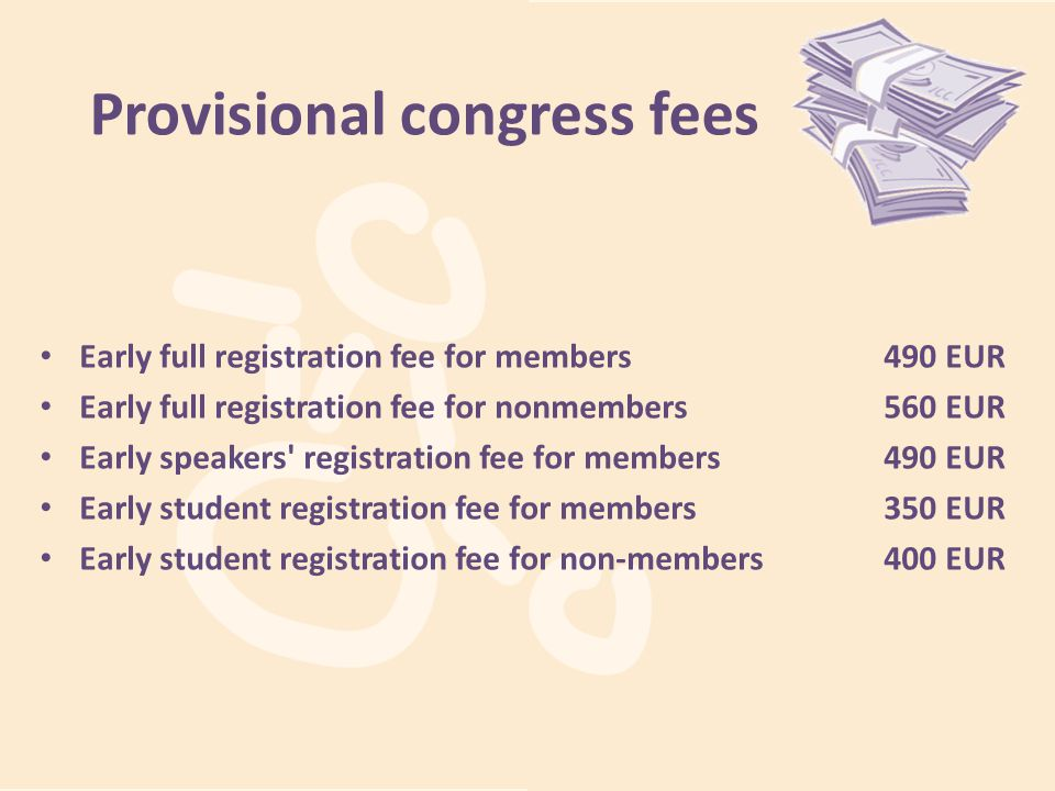 Provisional congress fees