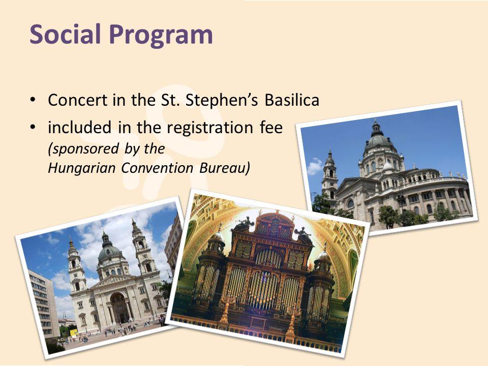 Social Program Concert in the St. Stephen's Basilica
