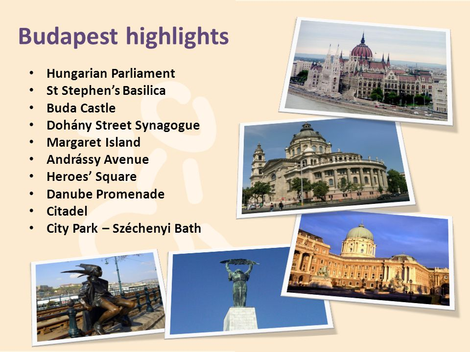Budapest highlights Hungarian Parliament St Stephen's Basilica