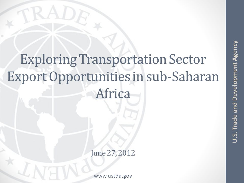 Exploring Transportation Sector Export Opportunities in sub-Saharan Africa