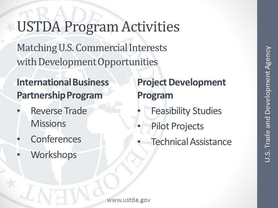USTDA Program Activities