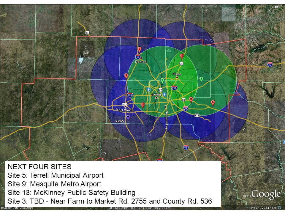 Site 5: Terrell Municipal Airport Site 9: Mesquite Metro Airport