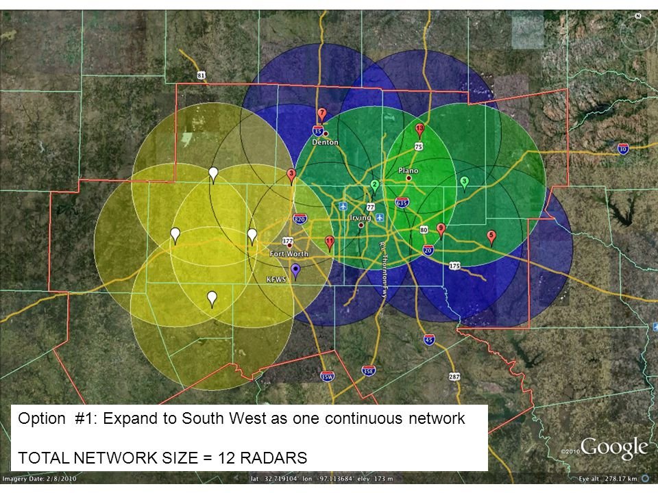 Option #1: Expand to South West as one continuous network