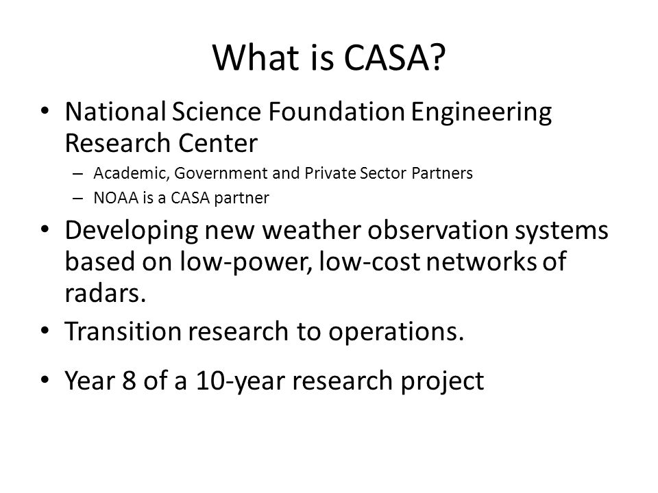 What is CASA National Science Foundation Engineering Research Center