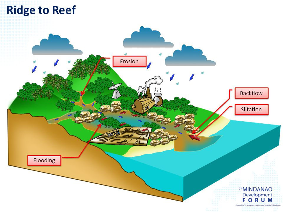 Ridge to Reef Erosion Backflow Siltation Flooding