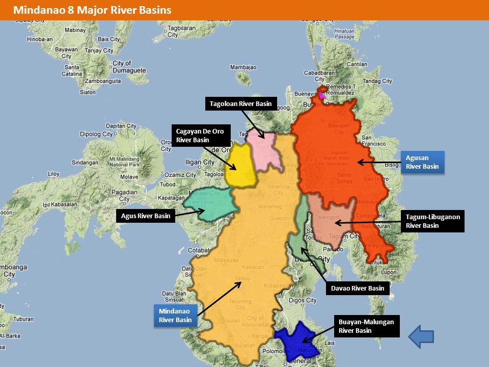 Mindanao 8 Major River Basins