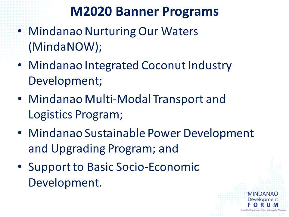 M2020 Banner Programs Mindanao Nurturing Our Waters (MindaNOW);