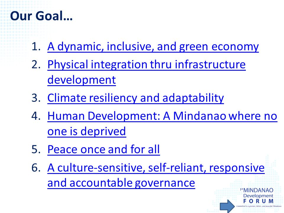 Our Goal… A dynamic, inclusive, and green economy