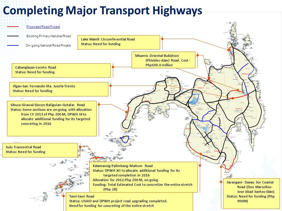 Completing Major Transport Highways
