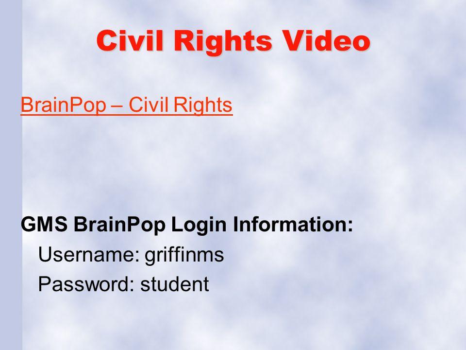 Civil Rights Video BrainPop – Civil Rights