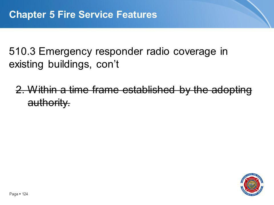Chapter 5 Fire Service Features