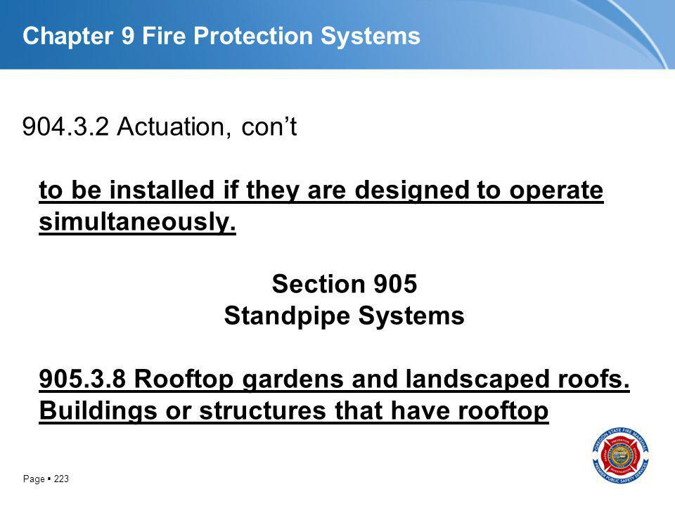 Chapter 9 Fire Protection Systems