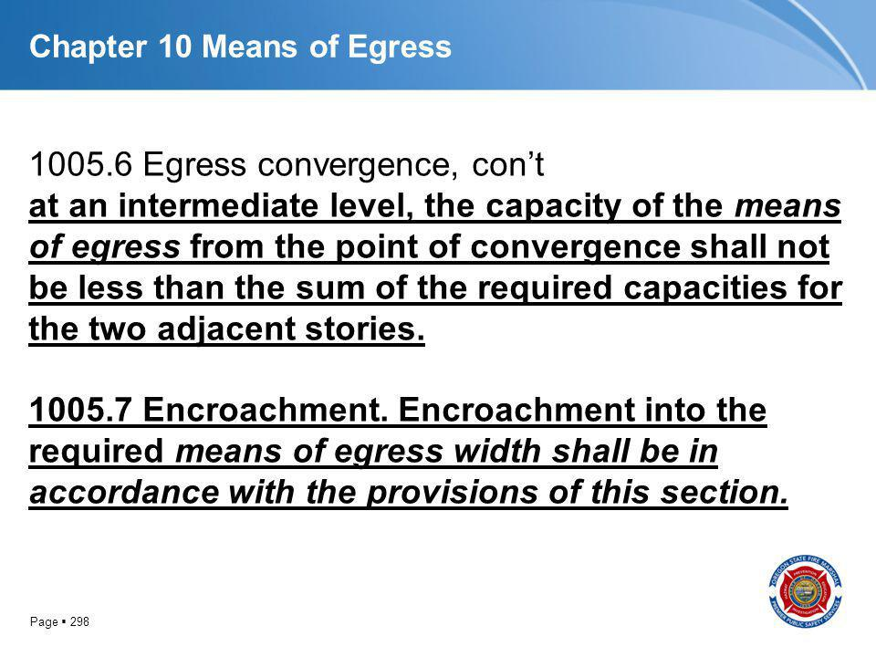 Chapter 10 Means of Egress