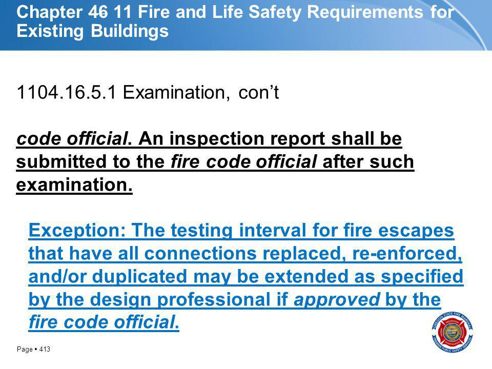 Chapter 46 11 Fire and Life Safety Requirements for Existing Buildings