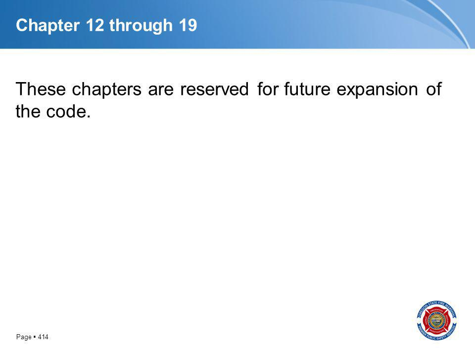 These chapters are reserved for future expansion of the code.