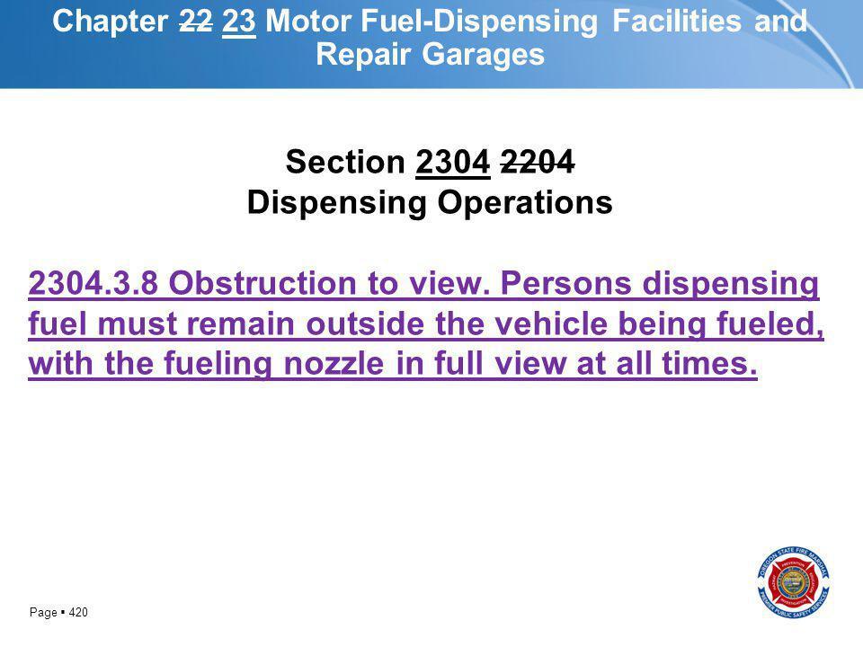 Chapter 22 23 Motor Fuel-Dispensing Facilities and Repair Garages
