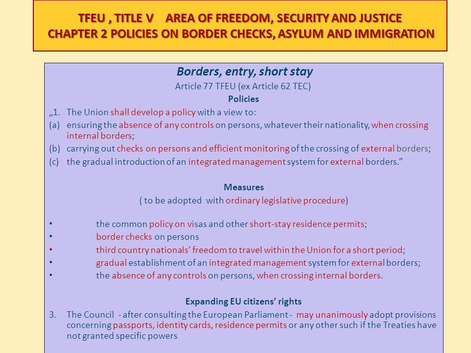 Expanding EU citizens' rights