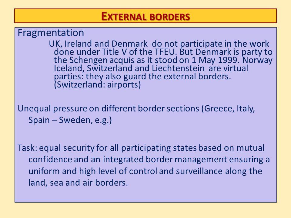 External borders Fragmentation