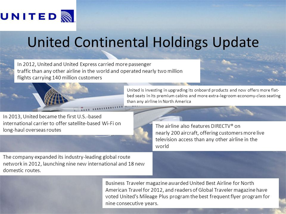 United Continental Holdings Update