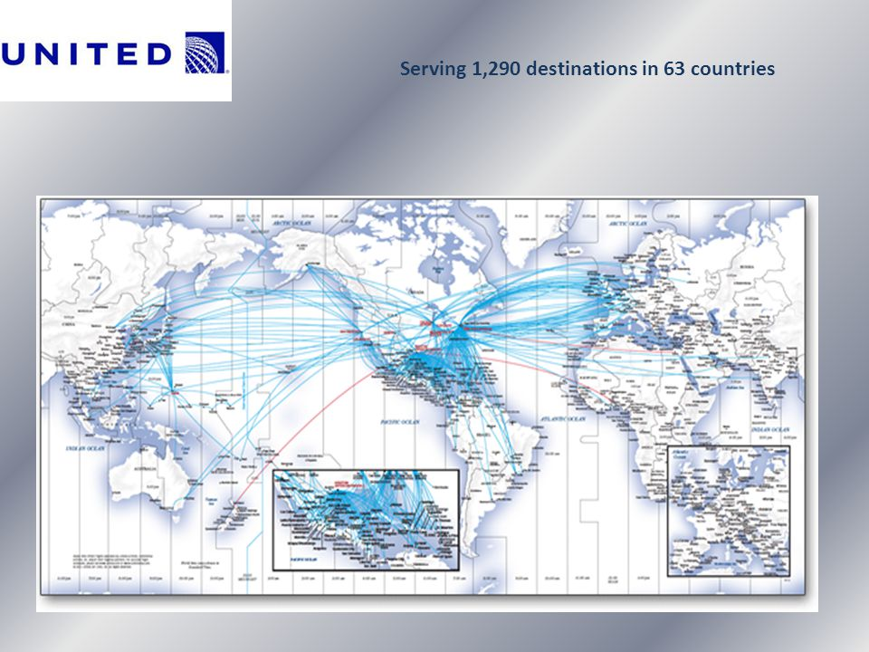Serving 1,290 destinations in 63 countries