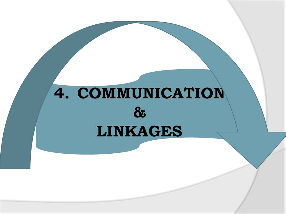 4. COMMUNICATIONS & LINKAGES