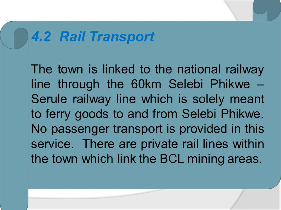 4.2 Rail Transport
