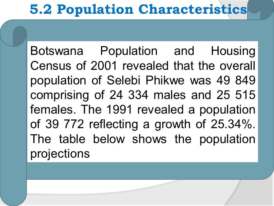 5.2 Population Characteristics
